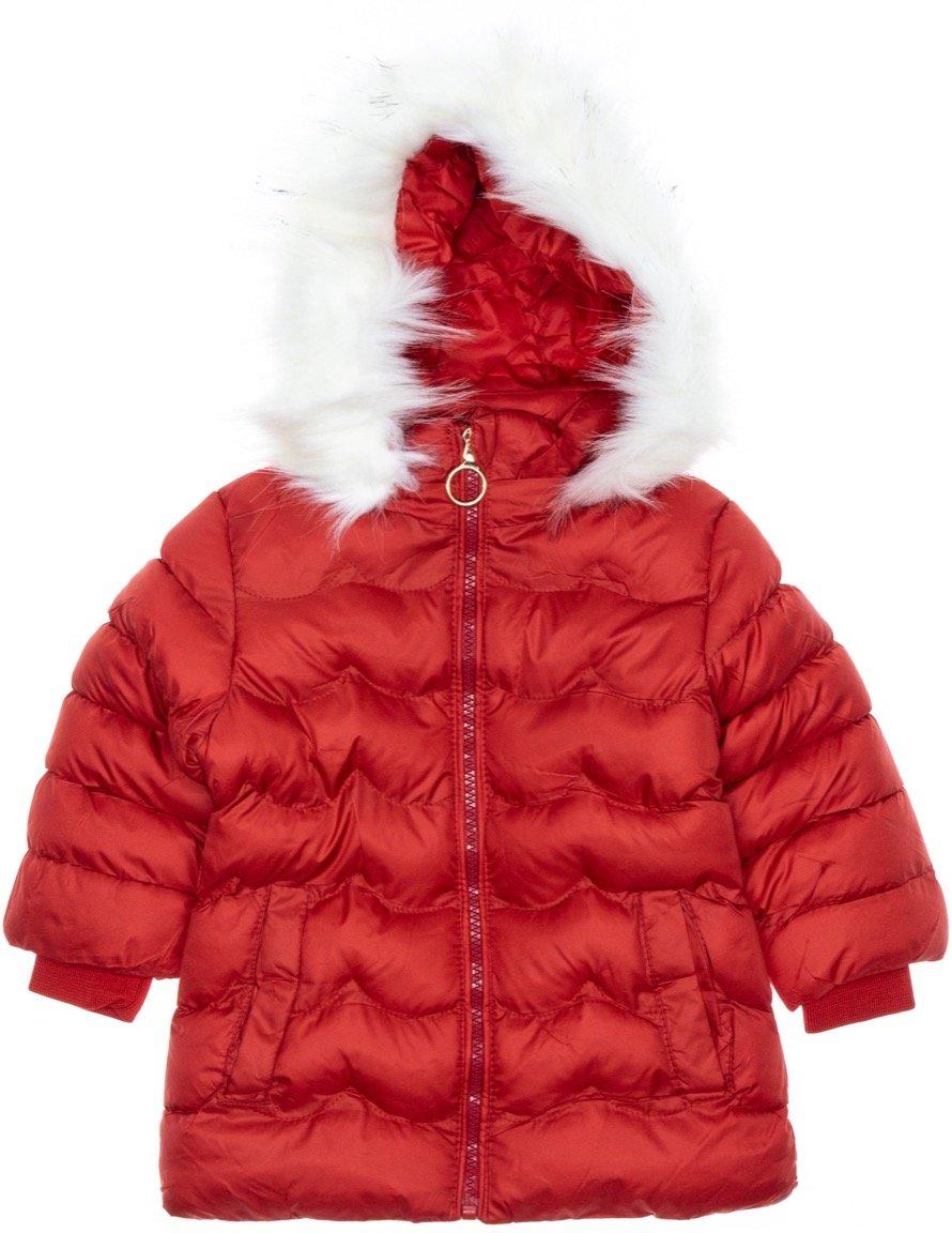 Lady Moda παιδικό μπουφάν με αποσπώμενη κουκούλα «Red Puffy»