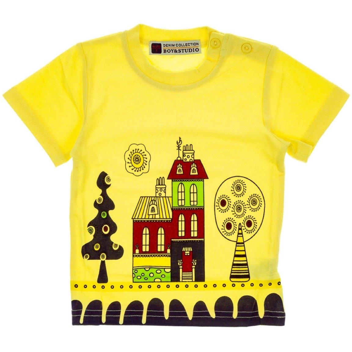Boy & Studio παιδική μπλούζα «Yellow City»