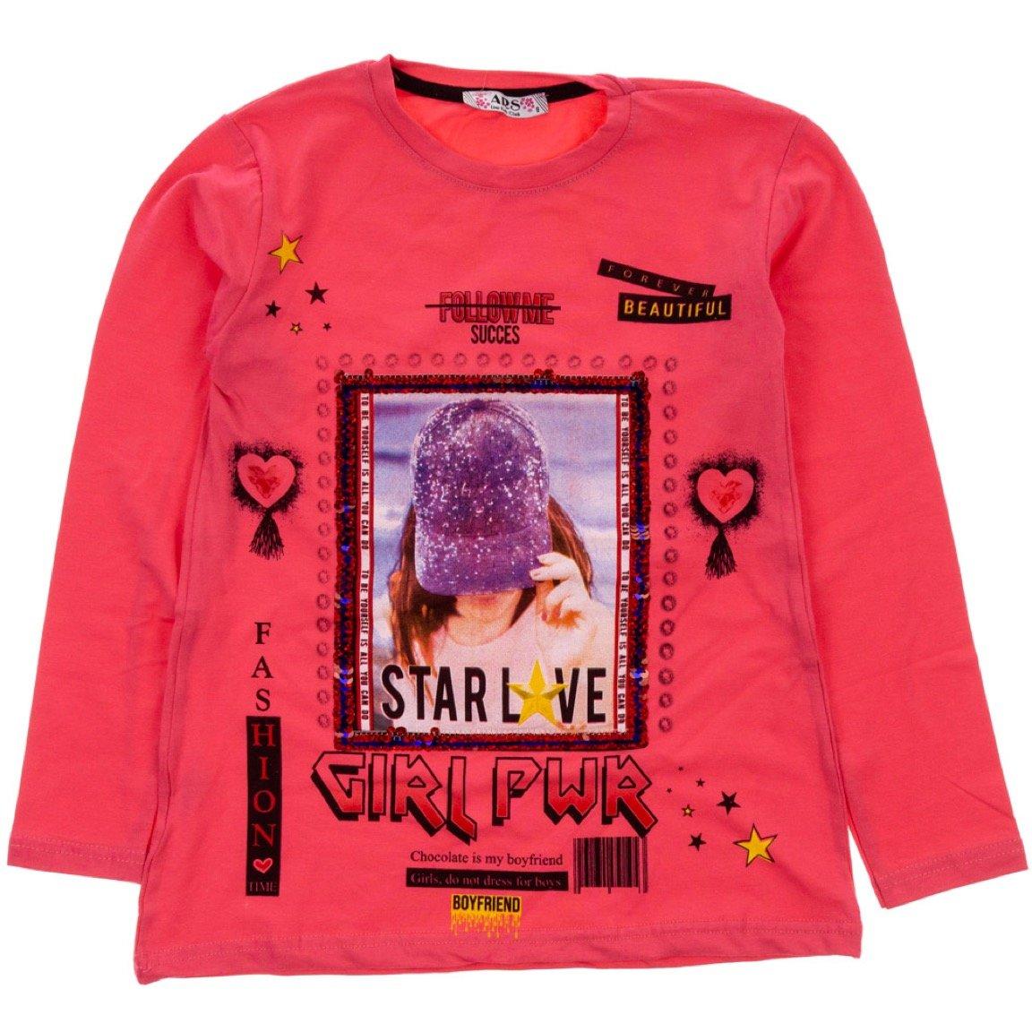 ARS παιδική εποχιακή μπλούζα «Fuchsia Girl Power»