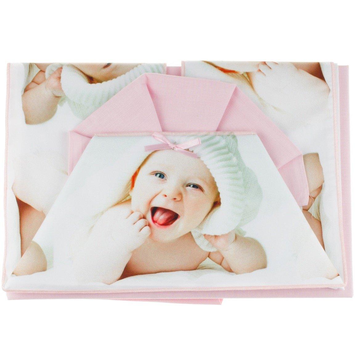 T&R σεντόνια σετ τριών τεμαχίων για παιδικό κρεβάτι (κούνια) «Pink Cutie»