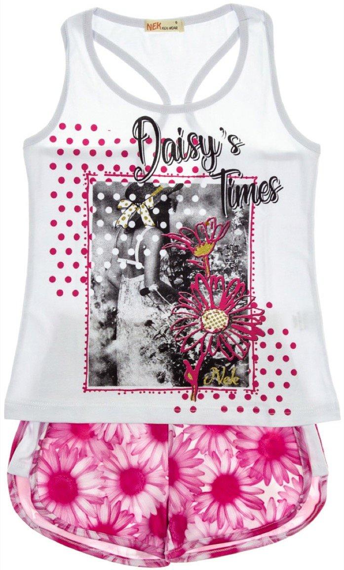 Nek παιδικό σετ μπλούζα-παντελόνι σορτς «Daisy's Times»