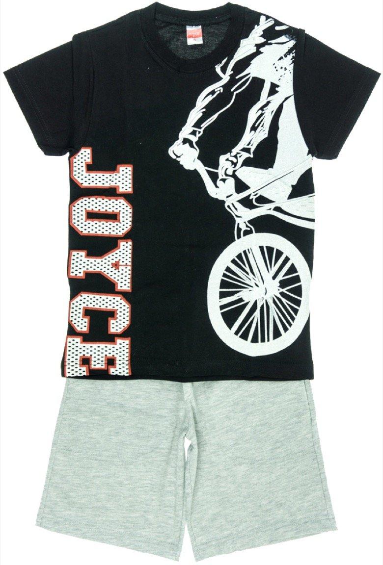 Joyce παιδικό σετ μπλούζα-παντελόνι βερμούδα «Black Bicycle»