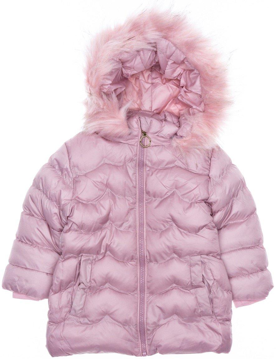 Lady Moda παιδικό μπουφάν με αποσπώμενη κουκούλα «Pink Puffy»