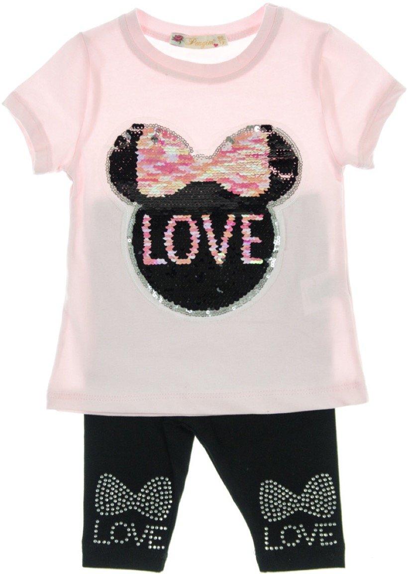 Pengim παιδικό σετ μπλούζα-παντελόνι κολάν κάπρι «Love Mouse»