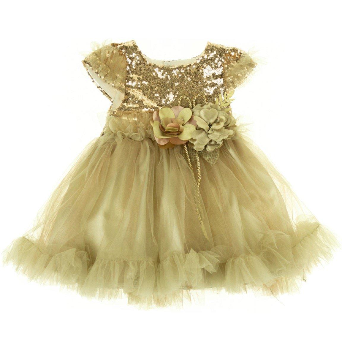 Blueberry's παιδικό αμπιγιέ φόρεμα «Golden Grace»