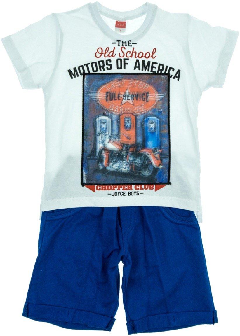 Joyce παιδικό σετ μπλούζα με φωτάκια & παντελόνι σορτς «The Motors»