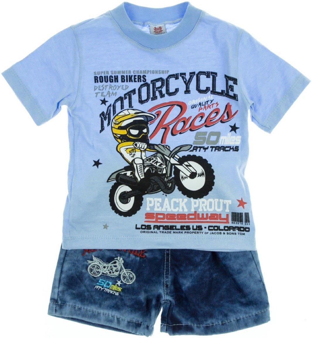 Bombicix παιδικό σετ μπλούζα-παντελόνι σορτς «Bikers»