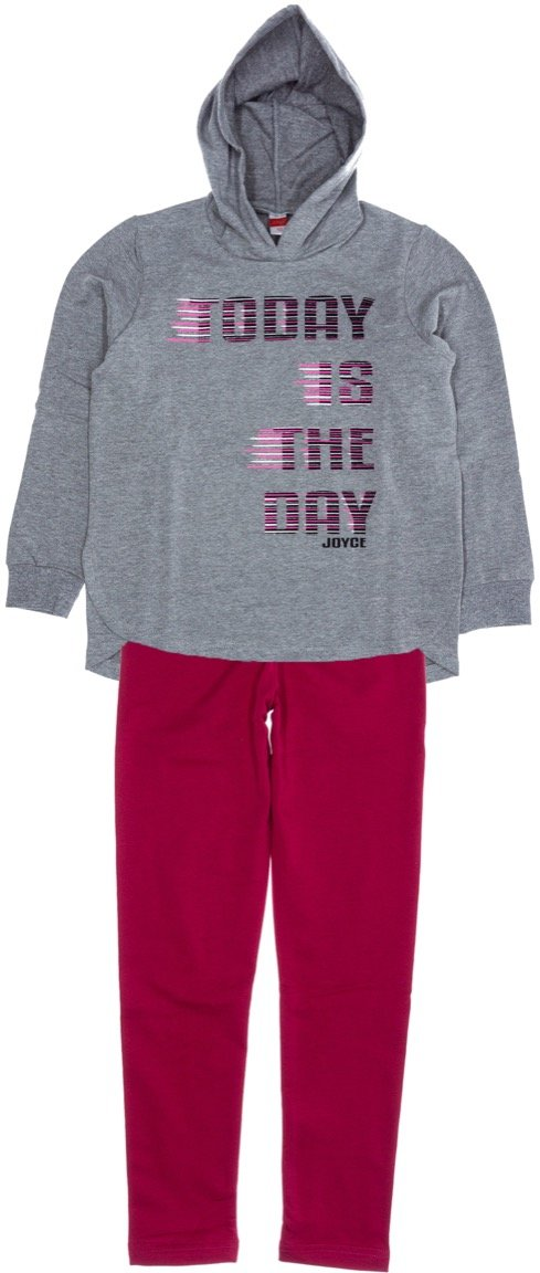 Joyce παιδικό σετ μπλούζα-παντελόνι κολάν «Today»