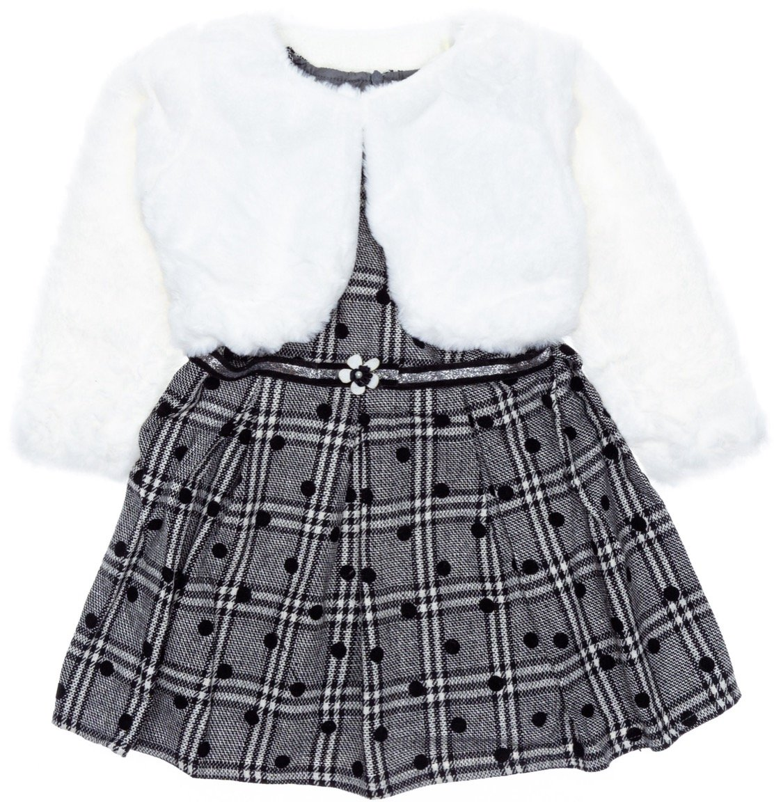 Luisa Chic παιδικό αμπιγιέ φόρεμα και μπολερό «The Dots»