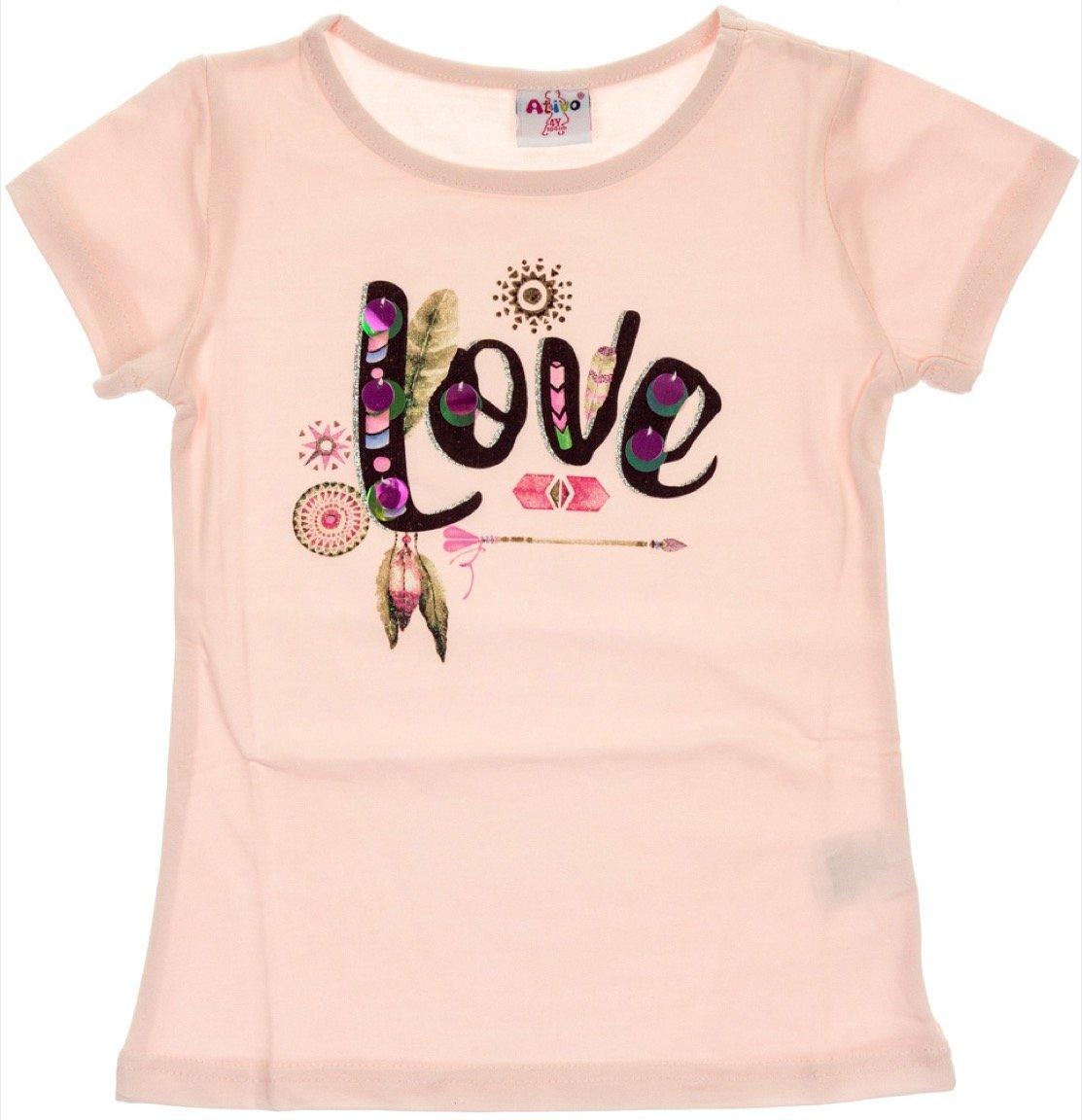 Ativo παιδική μπλούζα «Pink Love»