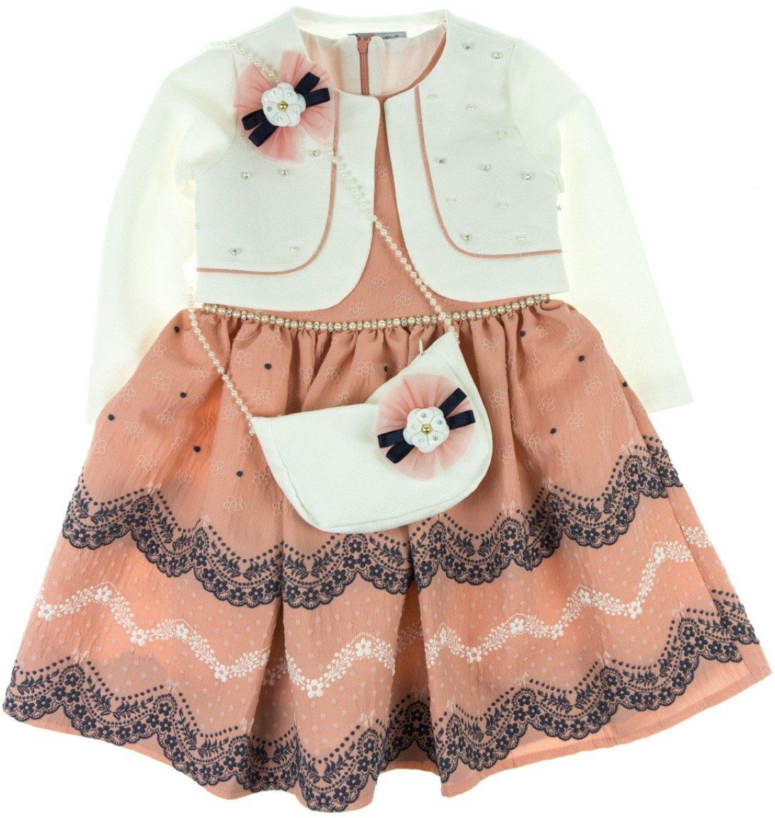 Seker παιδικό αμπιγιέ φόρεμα και ζακέτα μπολερό «Chic Girl»