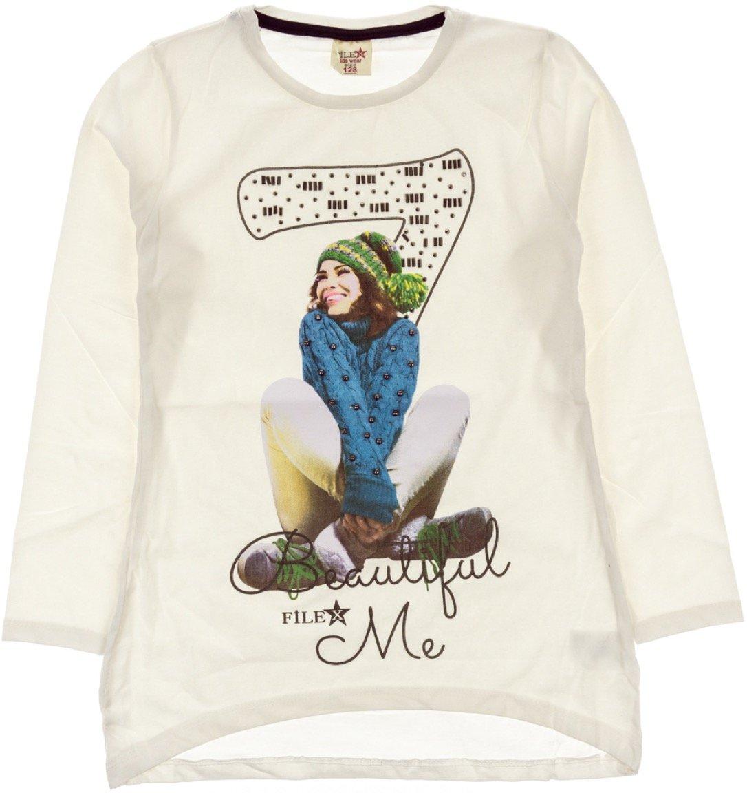 File παιδική εποχιακή μπλούζα «Ecru Seven»