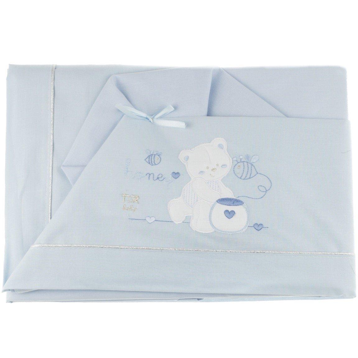 T&R σεντόνια σετ τριών τεμαχίων για παιδικό κρεβάτι (κούνια) «Honey»