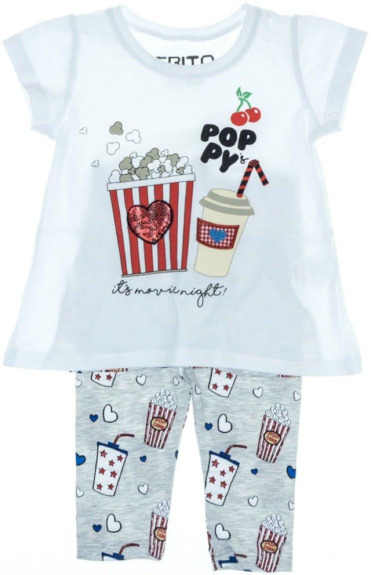Εβίτα παιδικό σετ μπλούζα-παντελόνι κολάν κάπρι «Poppy»