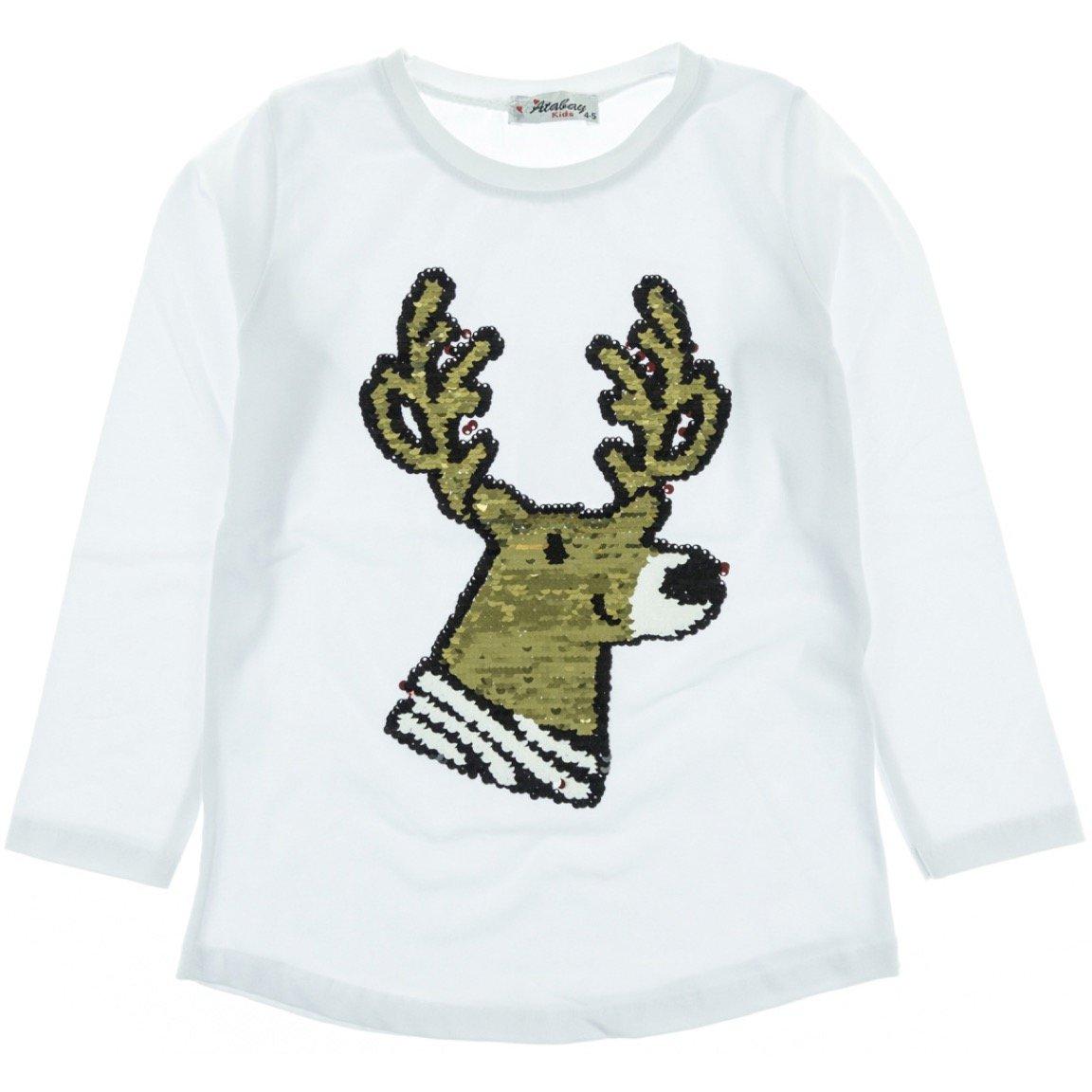 Atabay παιδική εποχιακή μπλούζα «White Dear»
