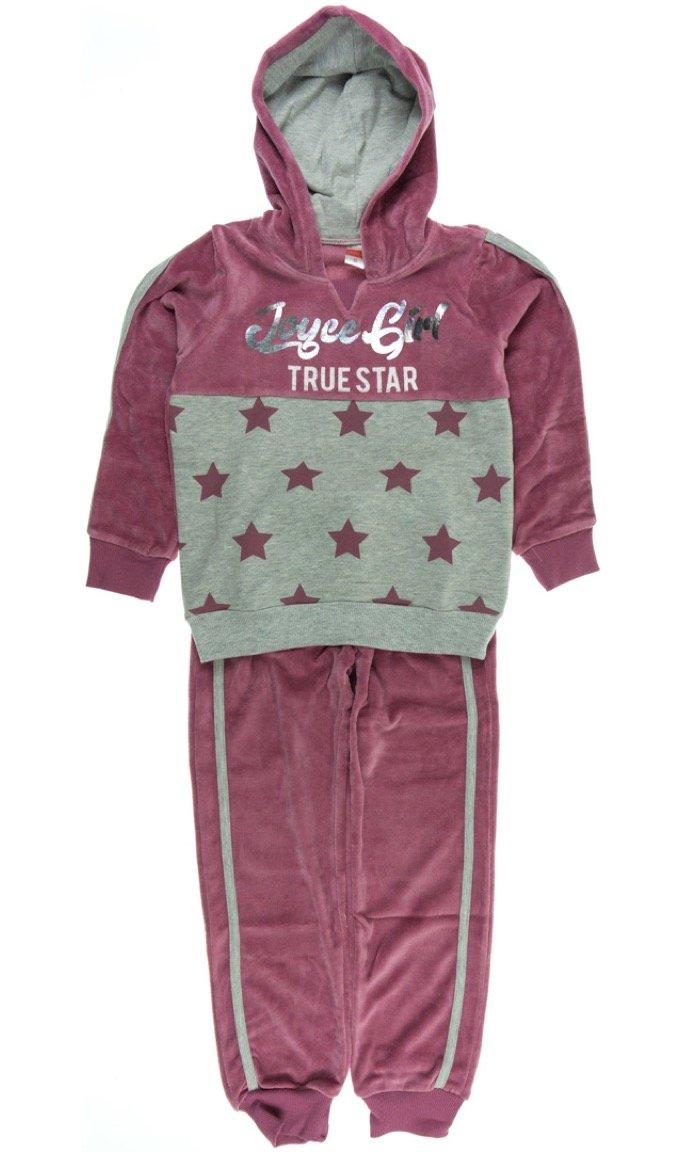 Joyce παιδικό σετ φόρμα μπλούζα-παντελόνι «Velvet Stars»