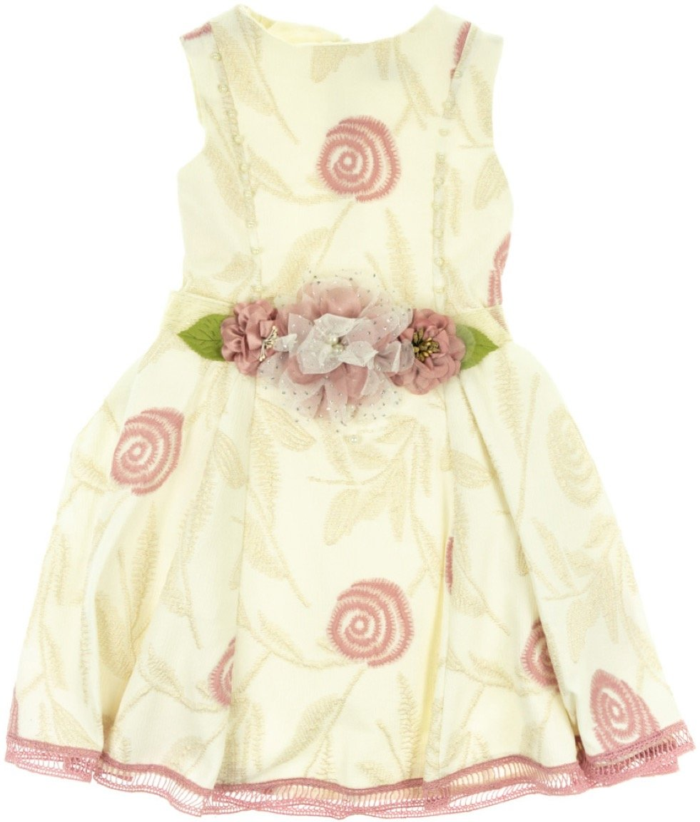 Feriha παιδικό αμπιγιέ φόρεμα «Repoussé Flowers»