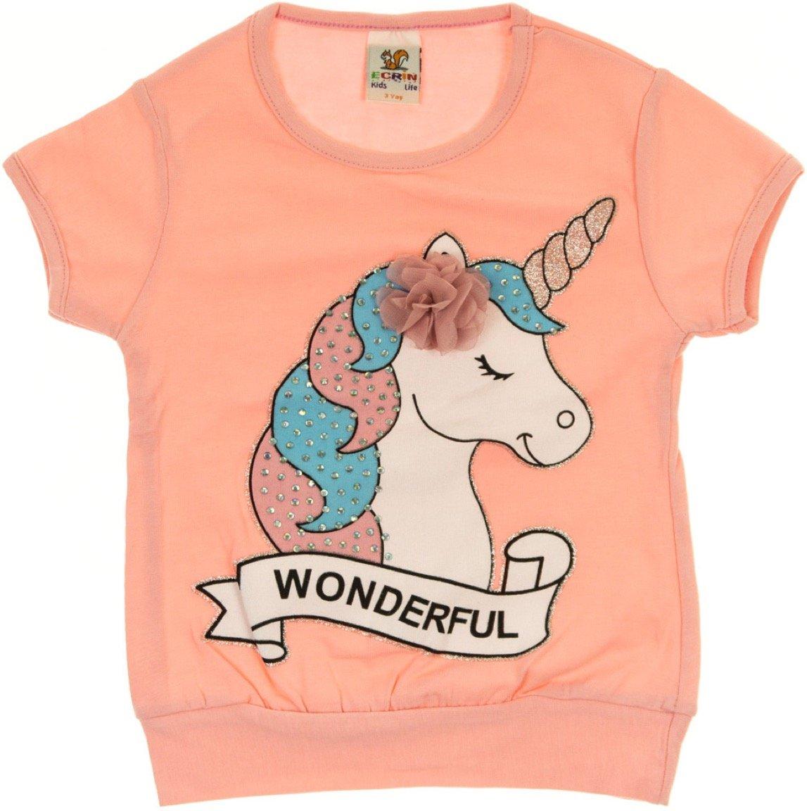 Ecrin παιδική μπλούζα «The Wonderful Pink Unicorn»