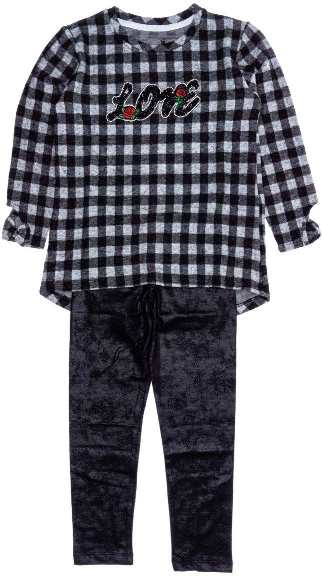 Εβίτα παιδικό σετ μπλούζα-παντελόνι κολάν «Rose Love»