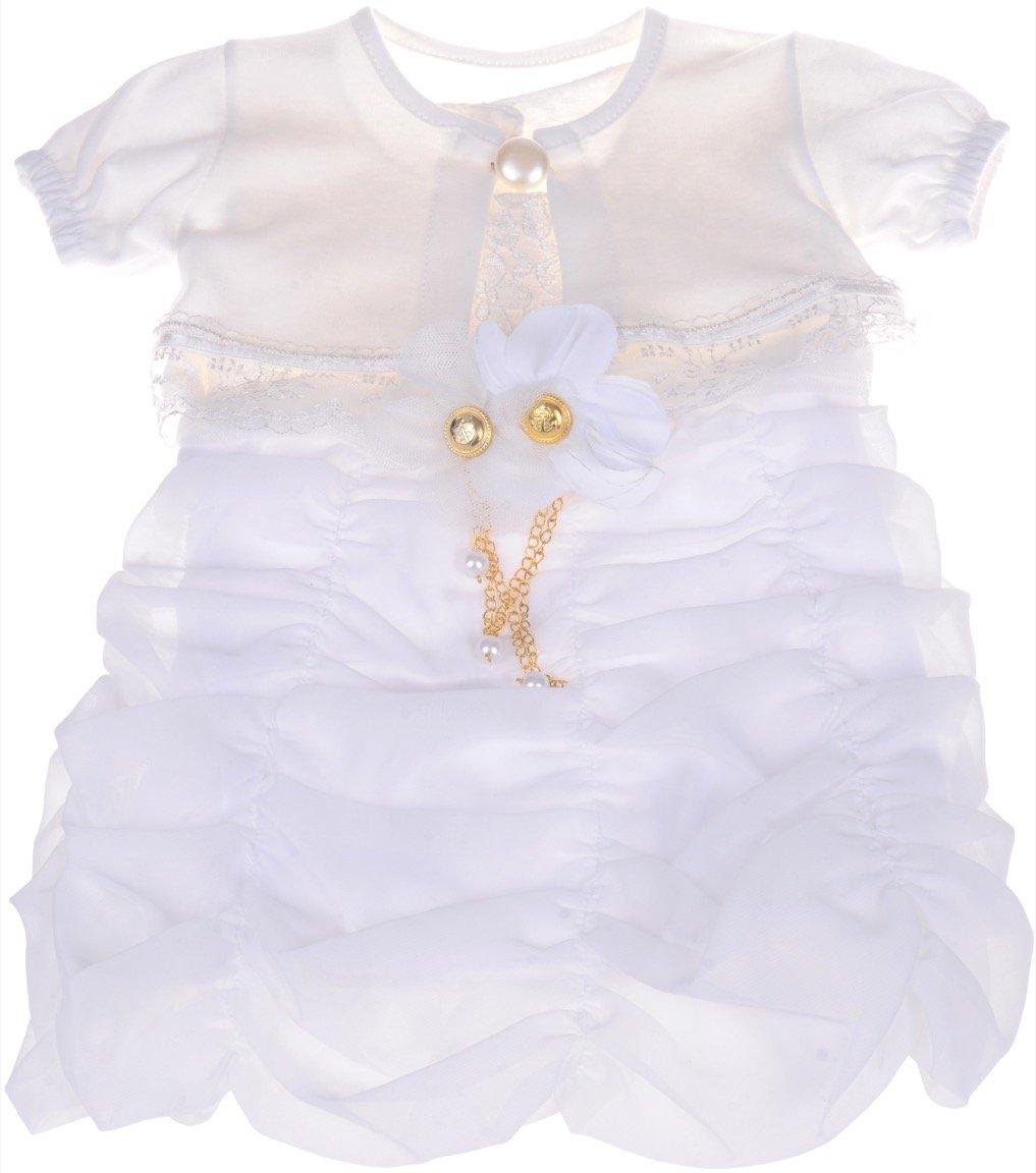 fc1a8bfcf9b6 ΑΖ βρεφικό αμπιγιέ φόρεμα   ζακέτα μπολερό «White Trimness ...