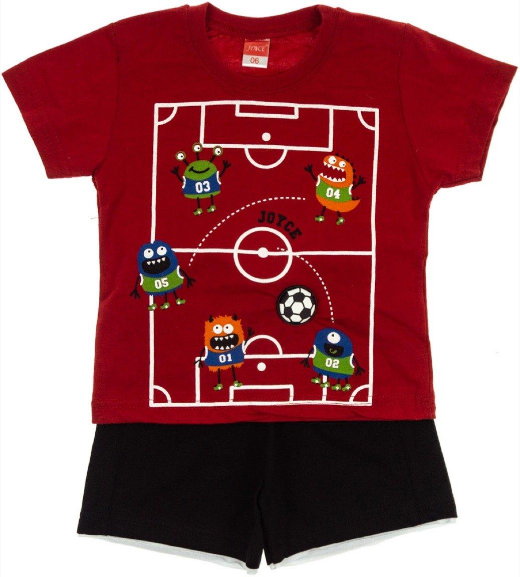 Joyce παιδικό σετ μπλούζα-παντελόνι σορτς «Monsters in Field»