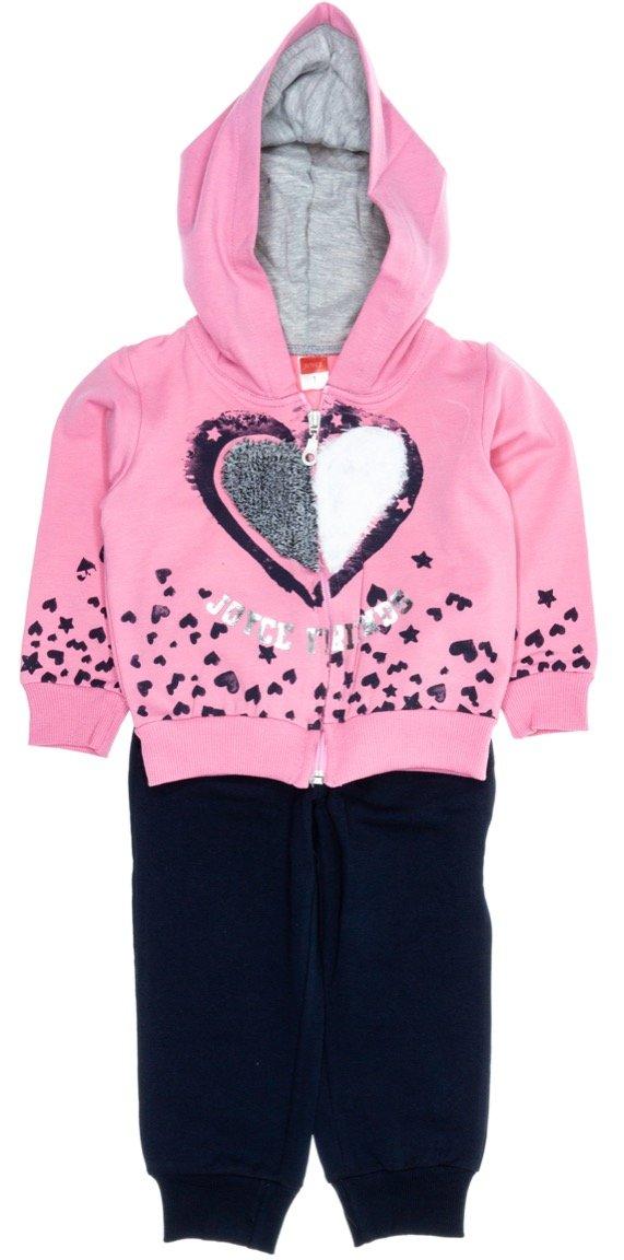 Joyce παιδικό σετ φόρμα ζακέτα-παντελόνι «Furry Heart»
