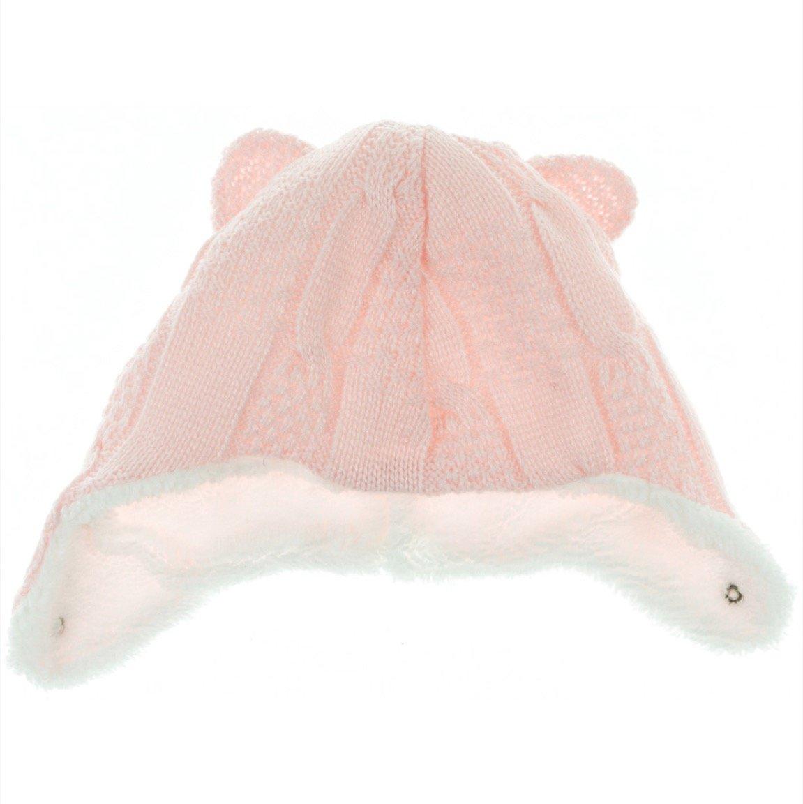 AZ πλεκτό βρεφικό σκουφί «Pink Knit»