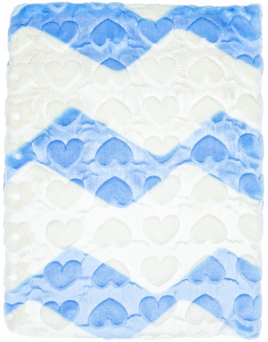 Recos βελουτέ κουβέρτα για παιδικό κρεβάτι (κούνια) «Hearts and Stars»
