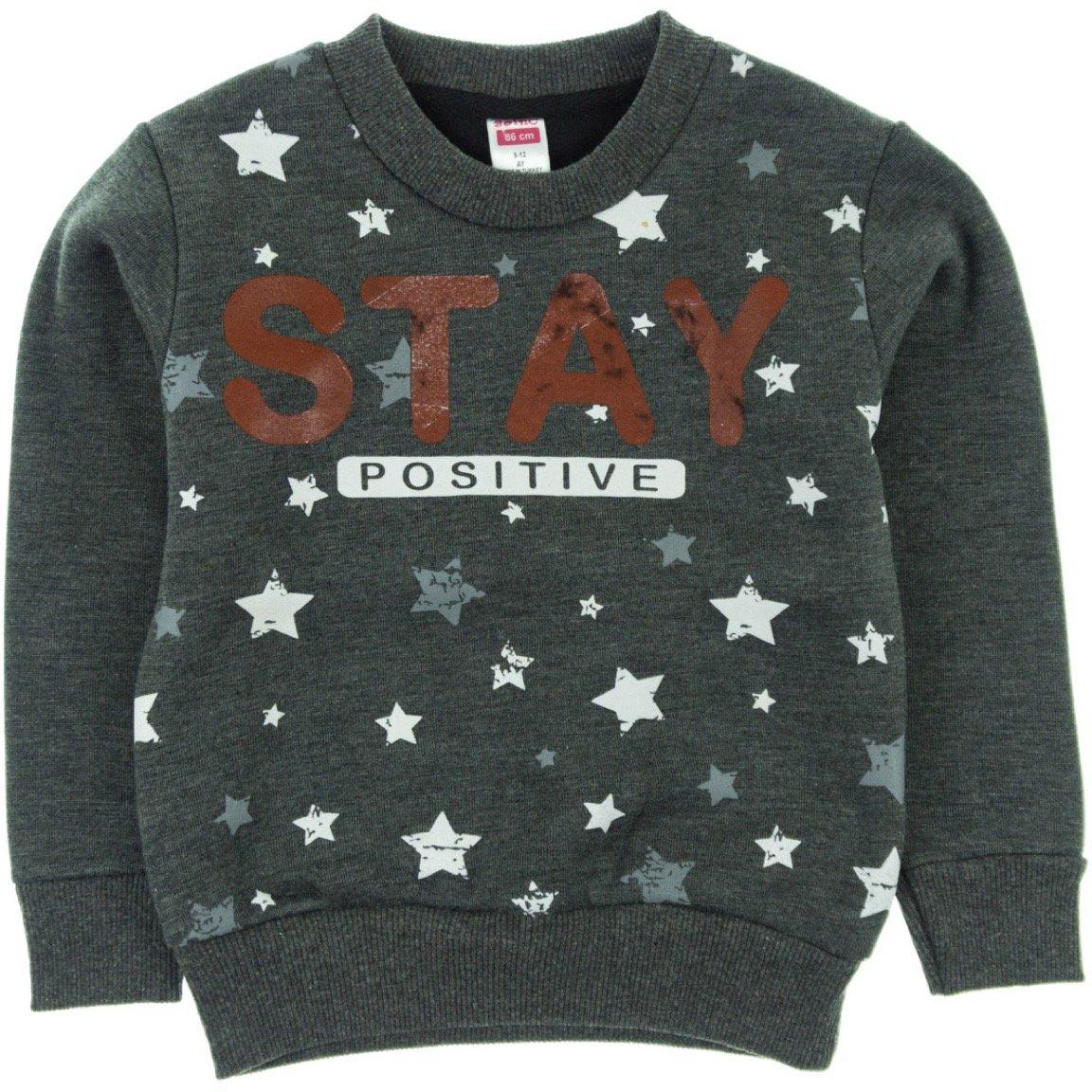 Boinc βρεφική φούτερ μπλούζα «Stay Positive»