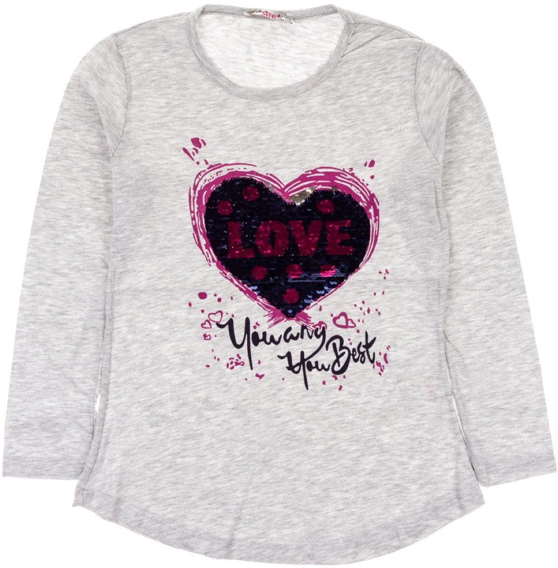 Mix Star παιδική εποχιακή μπλούζα «Grey Best Love»