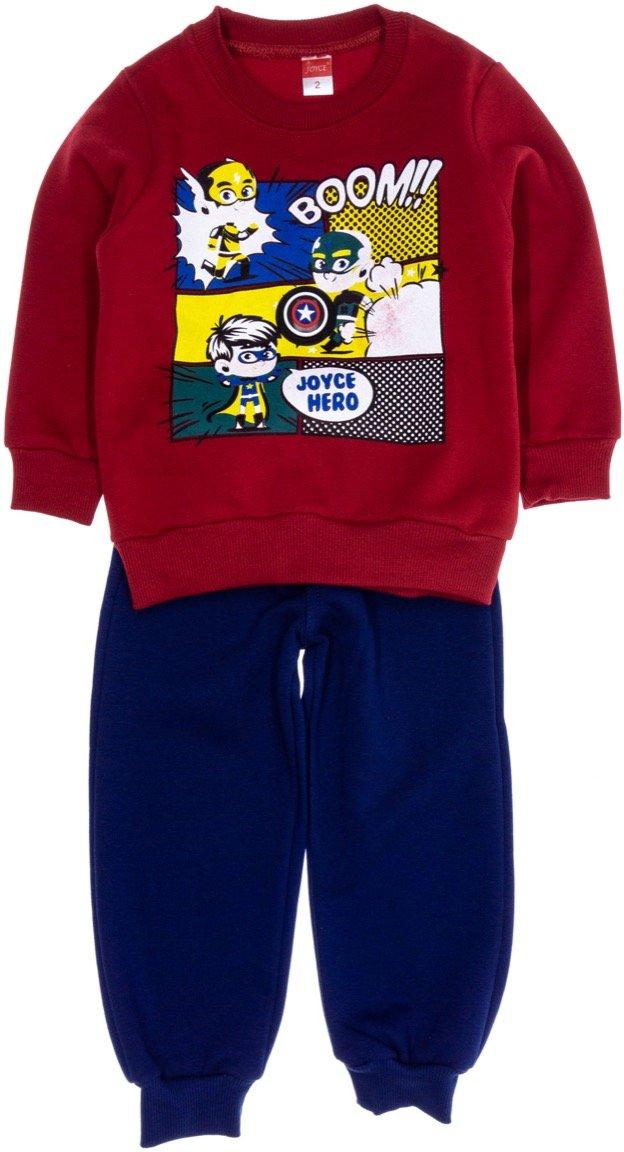 Joyce παιδικό σετ φόρμα μπλούζα με φωτάκι - παντελόνι «Red Boom»