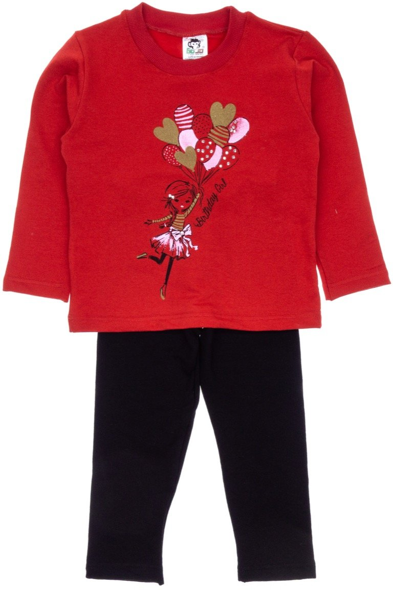Go Jo παιδικό σετ μπλούζα-παντελόνι κολάν «Birthday Girl»