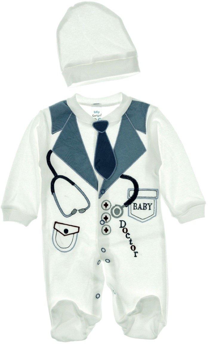 Carioca βρεφικό εποχιακο φορμάκι και σκουφάκι «Doctor Baby»