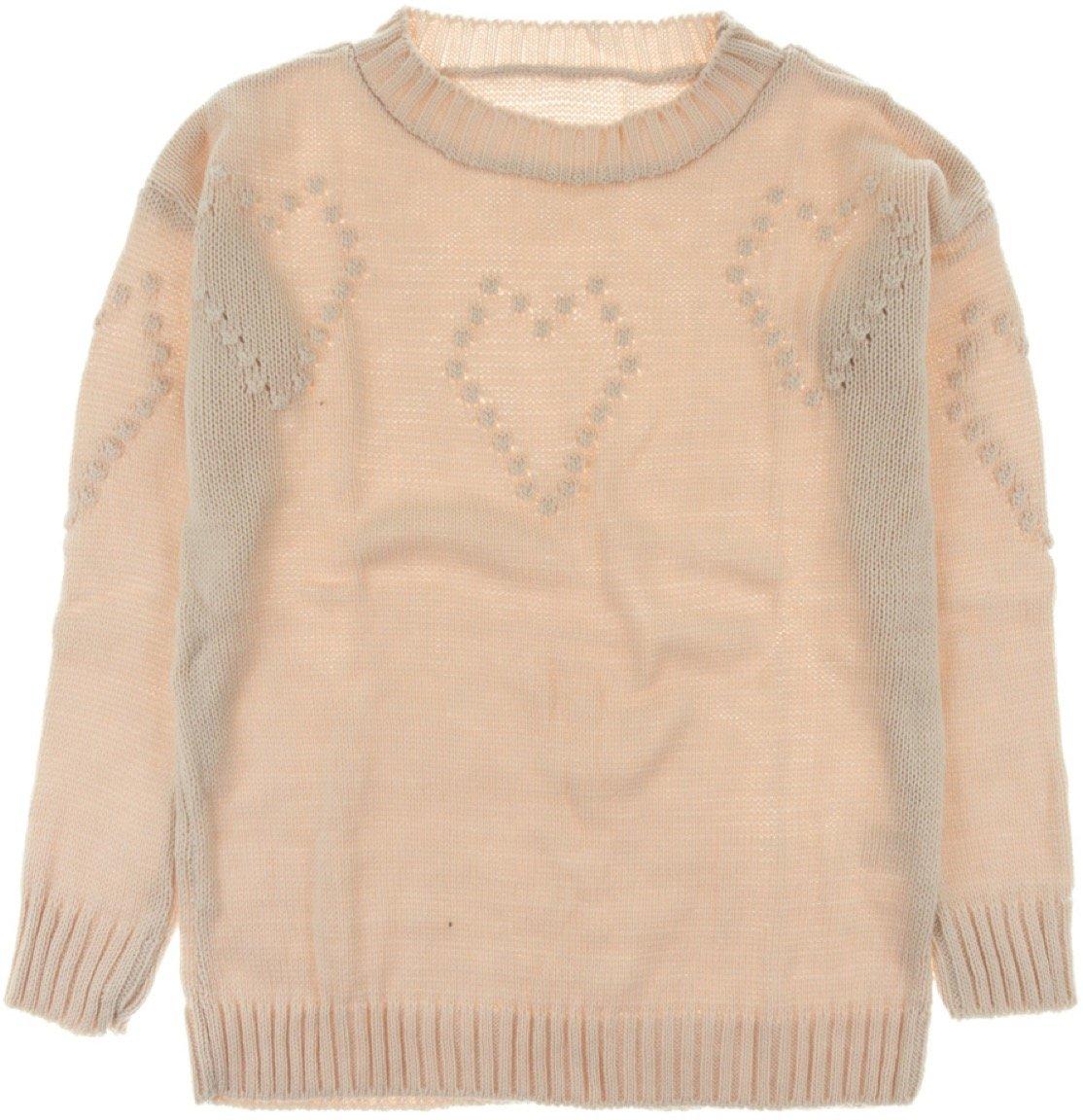ΑΖ γυναικεία πλεκτή μπλούζα «Pink Hearts»