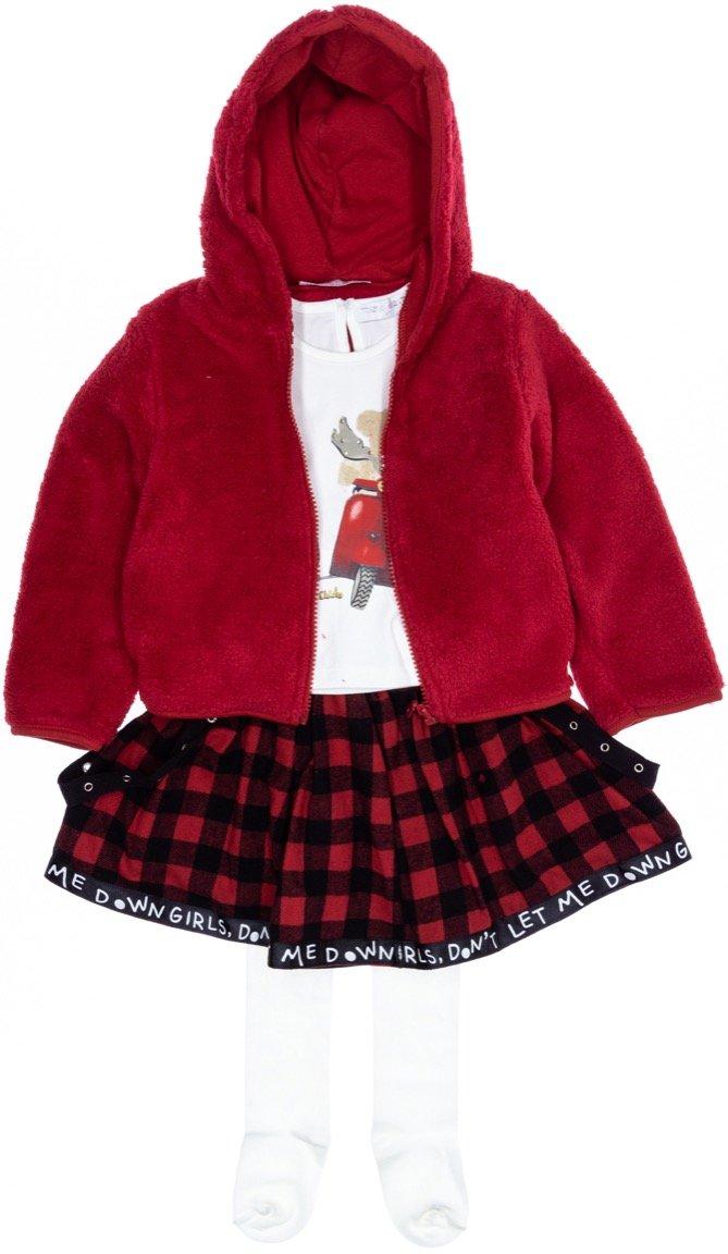 Εβίτα παιδικό σετ ζακέτα-μπλούζα-φούστα-καλσόν «Winter Riders»