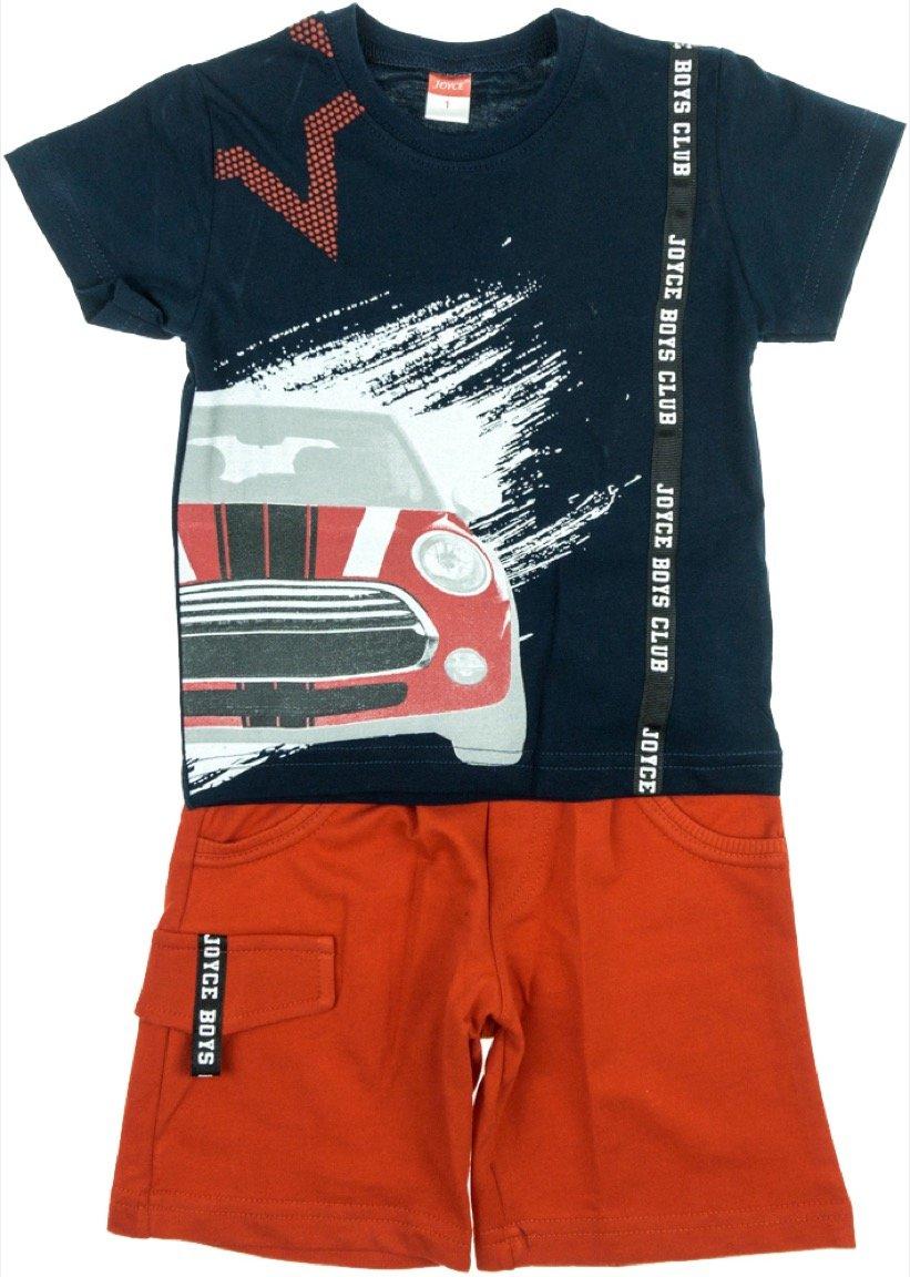 Joyce παιδικό σετ μπλούζα-παντελόνι σορτς «Mini Car»