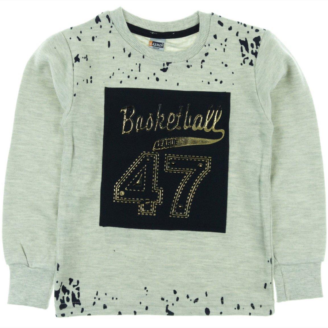 Waxmen παιδική μπλούζα «Grey Basketball»