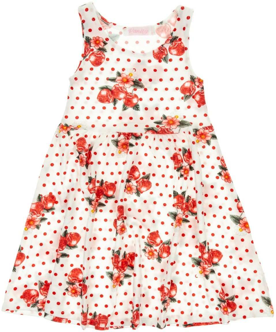 Vanity Chic παιδικό φόρεμα «Red Berries»
