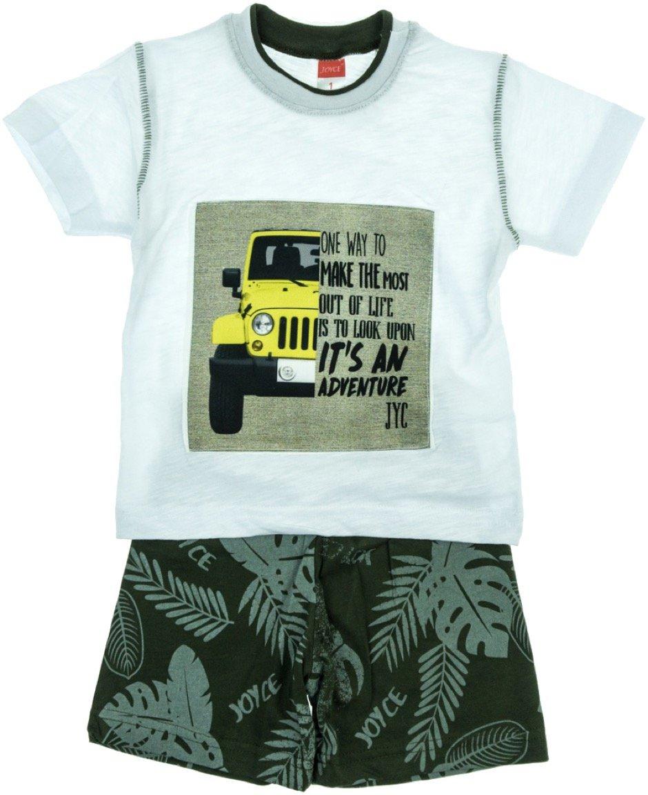 Joyce παιδικό σετ μπλούζα-παντελόνι σορτς «White Adventure»