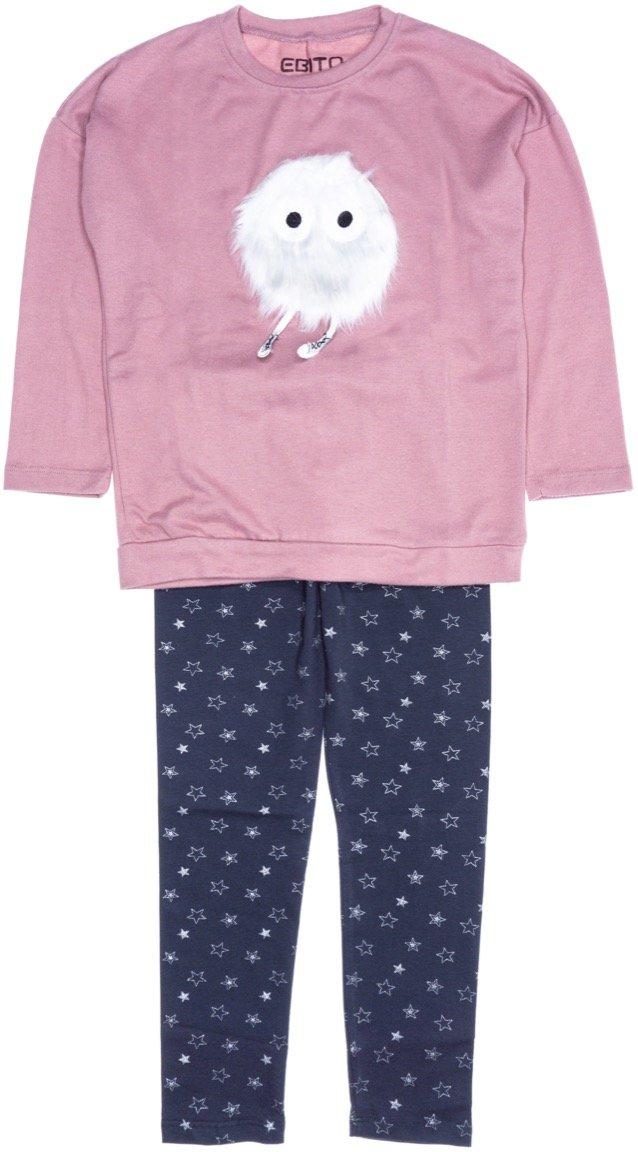 Εβίτα παιδικό σετ μπλούζα-παντελόνι κολάν «Fluffy»