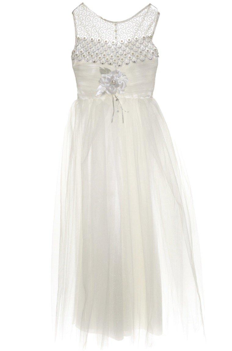 Ken Club παιδικό αμπιγιέ φόρεμα «Eternal Snow»