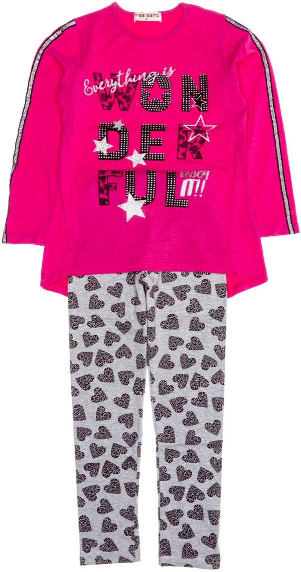 Εβίτα παιδικό εποχιακό σετ μπλούζα-παντελόνι κολάν «Just Wonderful»