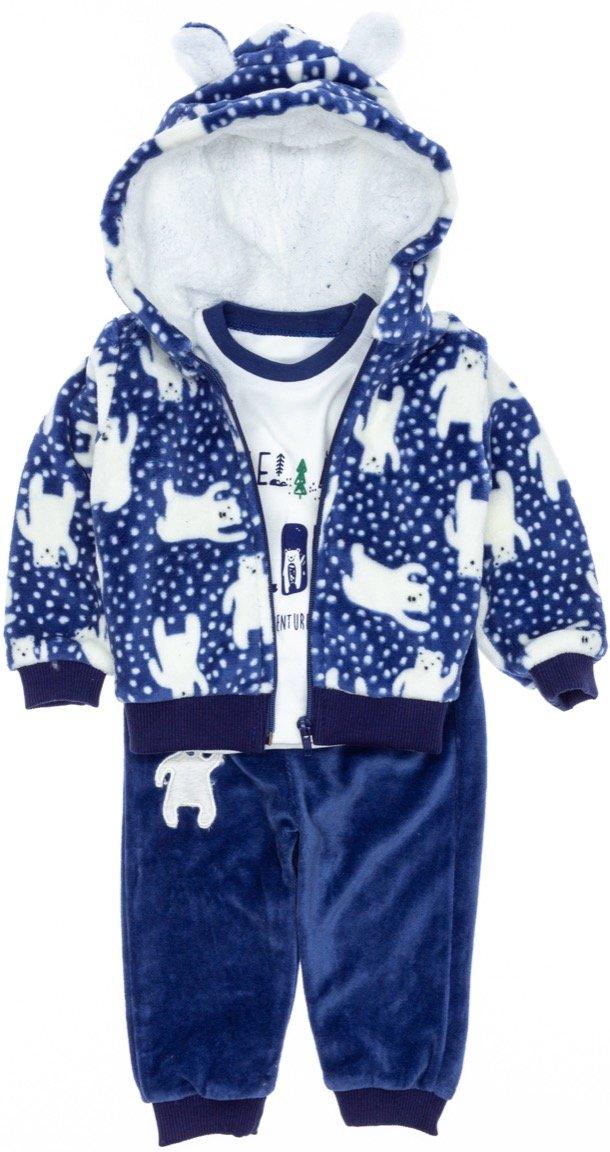 Necix's βρεφικό fleece σετ ζακέτα-μπλούζα-παντελόνι «Explorer»