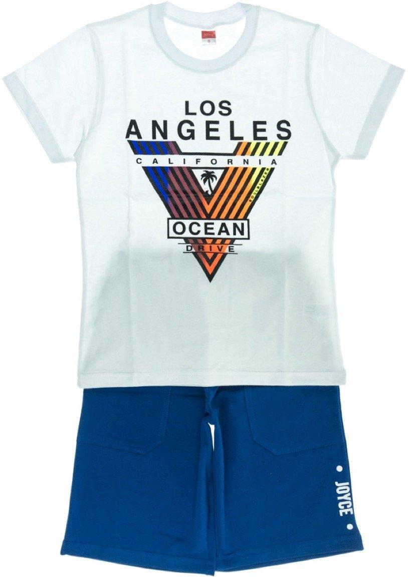 Joyce παιδικό σετ μπλούζα-παντελόνι σορτς βερμούδα «Los Angeles»