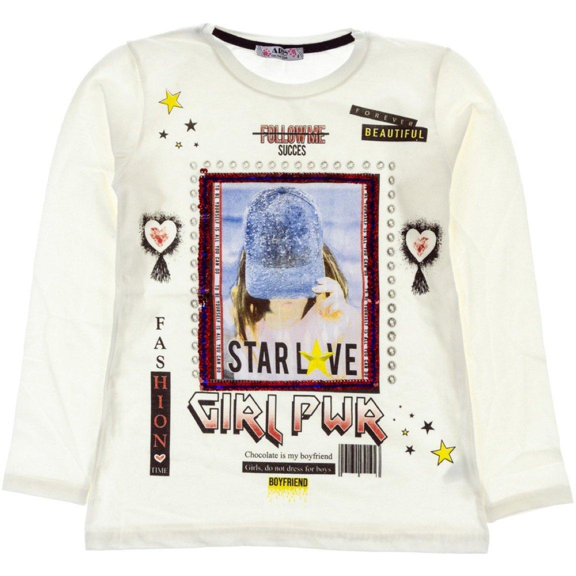 ARS παιδική εποχιακή μπλούζα «Ecru Girl Power»
