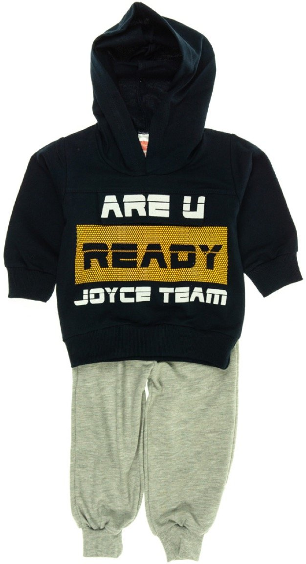 Joyce παιδικό εποχιακό σετ φόρμα μπλούζα-παντελόνι «Ready»