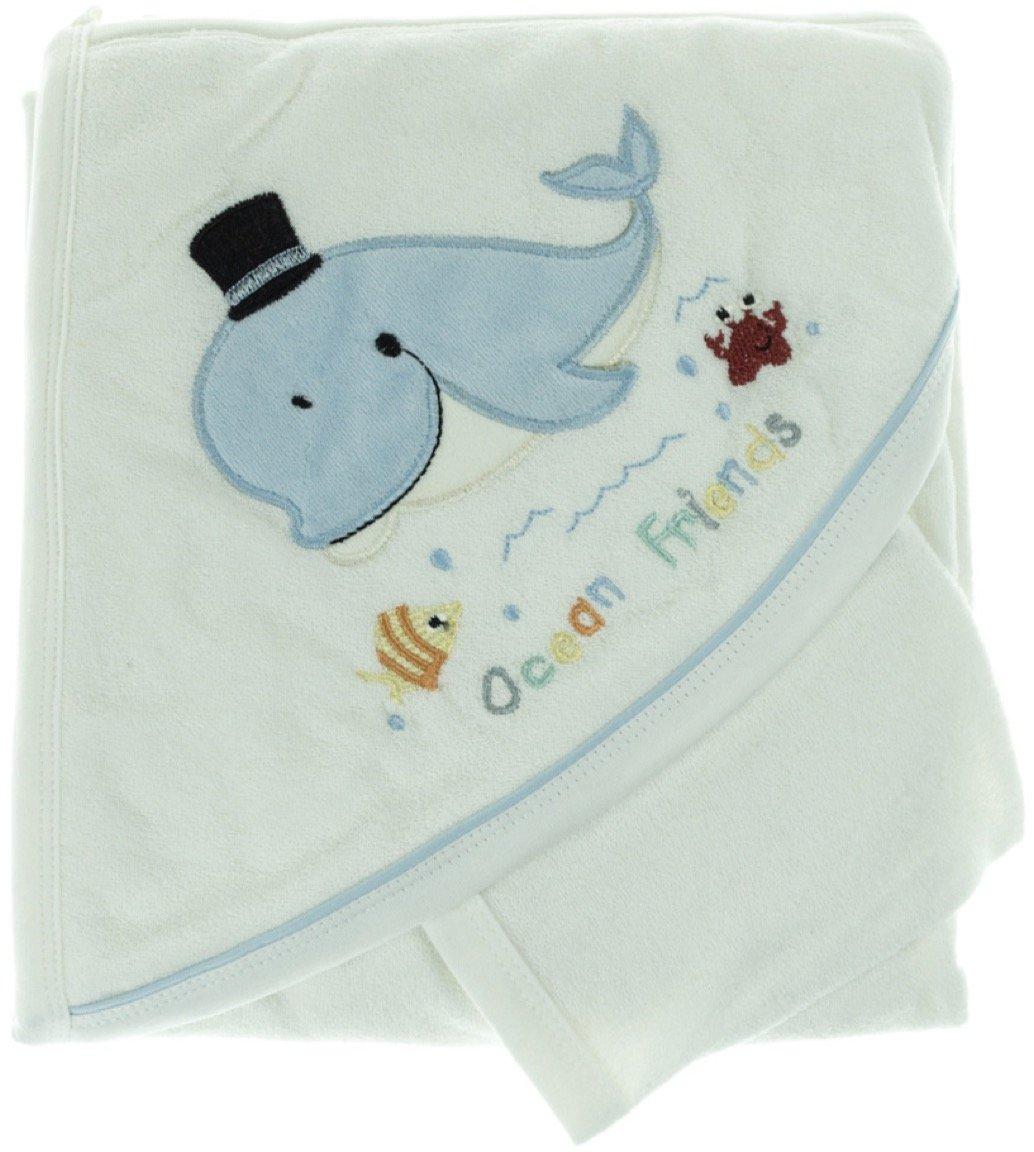Babyline βρεφική μπουρνουζοπετσέτα & πανάκι μπάνιου «Ocean Friends»