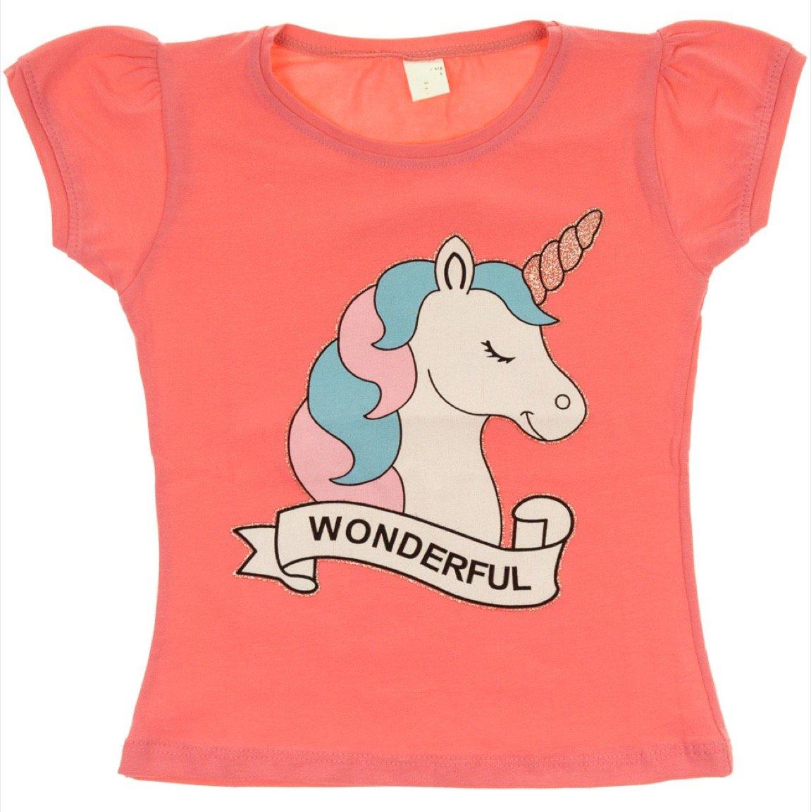 Ecrin παιδική μπλούζα «Pink Wonderful Unicorn»