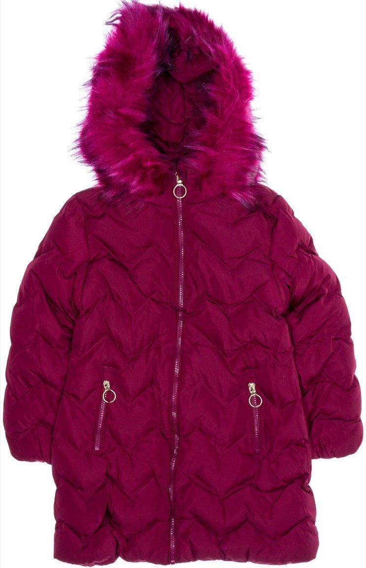 Lady Moda παιδικό μπουφάν με αποσπώμενη κουκούλα «Fuchsia Moda»