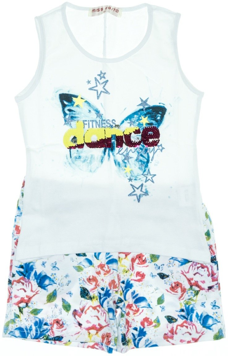 Εβίτα παιδικό σετ μπλούζα-παντελόνι σορτς «Dance»